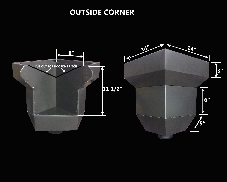 Scupper Box Conductor Head : Dyn heads aluminum conductor aka leader