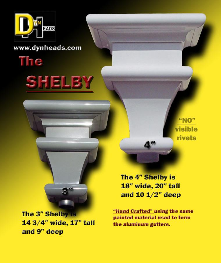 Leader Heads And Conductor Heads : Dyn heads aluminum shelby conductor head spec sheet